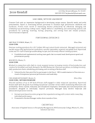 Oilfield Resume Objective Examples by Cook Resume Resume Cv Cover Letter