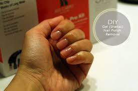 diy removing gel shellac nail polish at home
