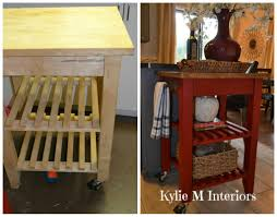 Kitchen Cart Ideas Ikea Bekvam Kitchen Island Cart Makeover With Annie Sloan Chalk