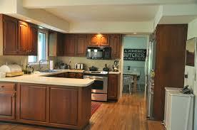 Kitchen Breakfast Bar Design Ideas Stunning Small U Shaped Kitchen Before And After Designsh