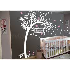 Tree Decal For Nursery Wall by Baby Nursery Tree Wall Decal With Customized Name Wall Sticker