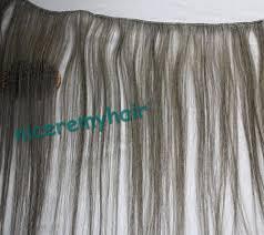Grey Human Hair Extensions grey hair extensions u2013 triple weft hair extensions