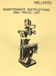 powermatic millrite vertical milling machine maintenance u0026 parts