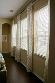 triple window treatment ideas living room pinterest window