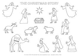 lambs at jesus manger christmas coloring stationery christmas