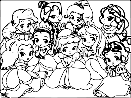 new baby disney princess coloring pages 18 in free coloring book