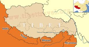 Egypt On A World Map by Where Is Tibet Located On Map Of China Asia And World