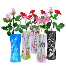 Flowers Home Decoration Beautiful Fordable Flower Vase Diy Pvc Vase Home Decoration Random