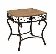 Best Price For Patio Furniture by Amazon Com Wicker Resin Steel Patio Side Table In Honey Finish