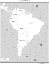 South America Map And Capitals by Maps Of The Americas