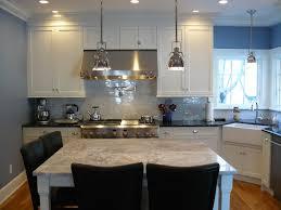 Kitchen Marble Backsplash Super White Granite Island Black Granite Surround Carrara Marble