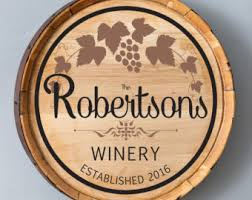 Personalized Signs For Home Decorating Personalized Barrel Etsy