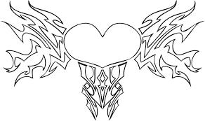 heart with wings coloring pages i love you coloringstar