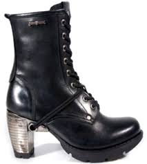 womens black leather biker boots mens and womens new rock boots m tr001 s1