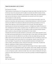 Sample Recommendation Letter For Scholarship From Teacher  Sample     YesCollege