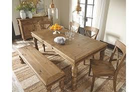 Trishley Dining Room Table Ashley Furniture HomeStore - Ashley furniture dining table with bench