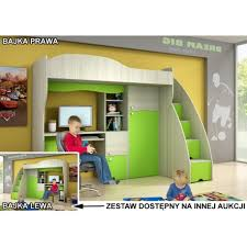 Bajka Kids Bedroom Furniture Low Price Good Quality Polish Furniture - Kids bunk bed with desk