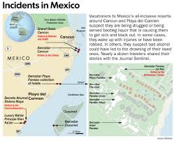 Mexico Map 1800 by All Inclusive Resorts In Mexico Suspected Of Drugging Tourists