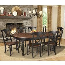 Palliser Alula British Isles Wood Oval Dining Table In Oak Black Humble Abode