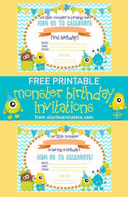 Free Printable Birthday Invitation Cards With Photo Best 25 Monster Invitations Ideas On Pinterest Monster Party