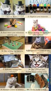 Top Ten Dissertation Writing Tips as illustrated by cats