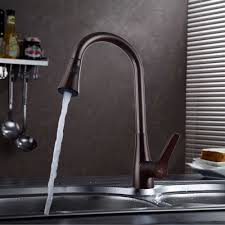 kes l6910 7 solid brass single lever high arc pull down kitchen