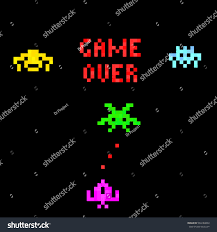 halloween pixel backgrounds pixel art background set funny pixel stock vector 584184802