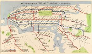 Greyhound Routes Map by 1924 Routes Of The Irt New York U2013 Transit Maps Store