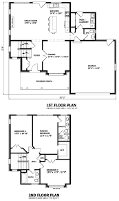 2000 Sq Ft Bungalow Floor Plans Excellent Idea Two Story House Plans Ontario 9 Two Story House