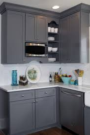 Dark Grey Cabinets Kitchen Classic Gray And White Interior Design Color Choices