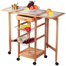 Kitchen Islands Carts by Amazon Com Topeakmart Portable Rolling Drop Leaf Kitchen Island