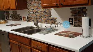 Adhesive Mosaic Tile Backsplash Color Subway  Pieces Peel N - Peel on backsplash