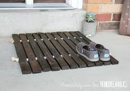 Teak Floor Mat Remodelaholic Diy Wood Stake Door Mat