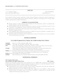 Professional Resume Cover Letter Samples  good curriculum vitae