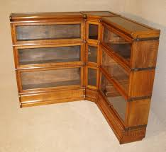 antique oak bookcase with glass doors rare antique oak corner globe wernicke barristers bookcase martin
