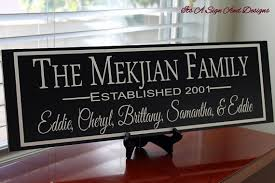 Personalized Signs For Home Decorating Custom Family Sign Personalized Anniversary Gift 5th Anniversary