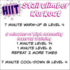 Stair Master Workout by Stair Climber Hiit Workout Ideas