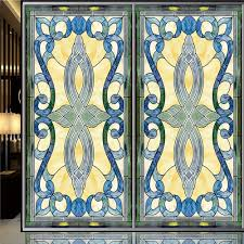 stained glass door film online get cheap stained glass wallpaper aliexpress com alibaba