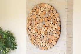 modern wall wood art round wooden wall wooden decor tree rounds