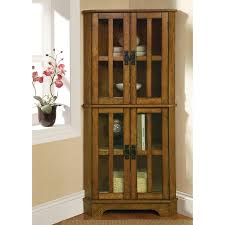 shop coaster fine furniture warm brown curio cabinet at lowes com