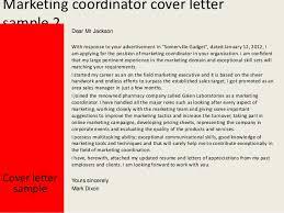 marketing coordinator cover letter