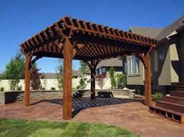 Timber Frame Pergola by Western Timber Frame Deck U0026 Patio Installers Ksl Local