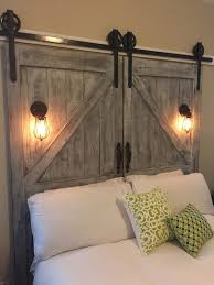 Diy Barn Doors by Cheaper And Better Diy Barn Door Headboard And Faux Barn Door