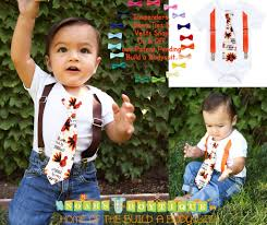thanksgiving ties baby boy for thanksgiving gobble tie with suspenders