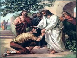 Jesús sana al leproso