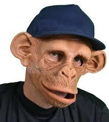 halloween costume mask chee monkey ape mask moving mouth chimp chimpanzee halloween