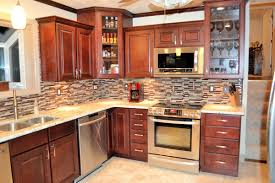 Glass Kitchen Tile Backsplash Ideas Kitchen Design Dark Brown Kitchen Backsplash Ideas Dark Brown