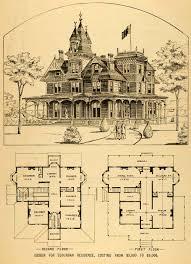 House Architectural 1879 Print Victorian House Architectural Design Floor Plans Horace