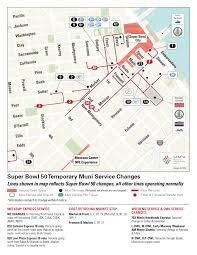 San Francisco Bart Map Getting Around During Super Bowl 50 Sfmta