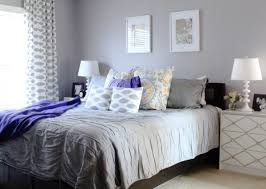 bedding set simple gray bedroom color scheme with wall mirror